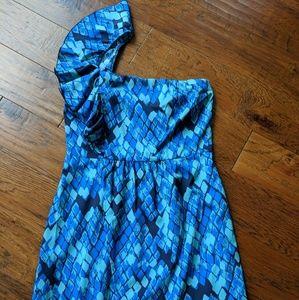 Gianni Bini  Ruffled One Shoulder Dress